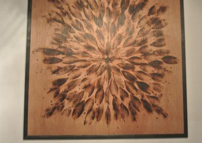 Flower Pyrograph 8' x 8'