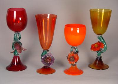 """Flower Goblets 12"""" x 4"""" Tallest"""