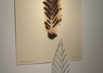 """Leaf Pyroprint 24"""" x 18"""" 2013"""