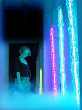 Neon Columns Installation